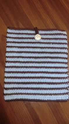 Brown And Blue Striped iPad Cover by primatwinstar on Etsy, $10.00