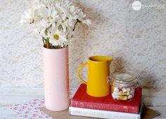 DIY Hobnail Milk Glass Vase