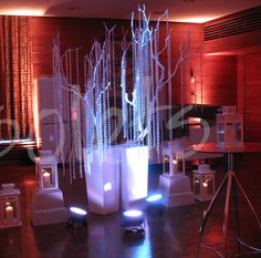 crystal trees event decorations