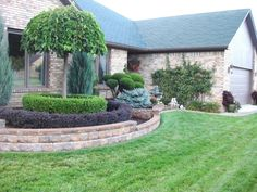 front yard retaining walls landscaping mine pinterest
