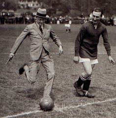 Edward, Prince Of Wales, kicking off between Tottenham Hotspur & Fulham FC London, (1921 ) [Press Association]