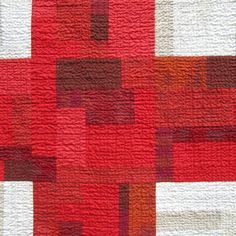 9 Patch Cross Quilt in Red and White by Victoria Gertenbach