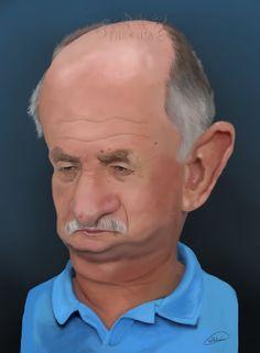 Caricature of coach Luis Felipe Scolari