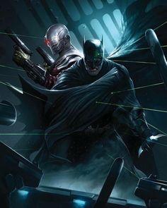 Batman & The Dark Knights of Gotham — redskullspage: Batman & Deadshot by Francesco. Im Batman, Batman Arkham, Batman Art, Superman 1, Batman The Dark Knight, Comic Book Artists, Comic Books Art, Comic Art, Marvel Dc