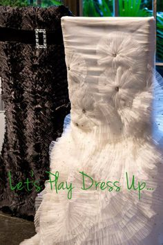 Resource One is always a step ahead of the trends when it comes to linen and chair covers. As an exclusive provider of their line, we couldn. Chair Sashes, Chair Backs, Wedding Linens, Wedding Chairs, Wedding Gowns, Wedding Chair Decorations, Wedding Decor, Wedding Reception, Fancy Chair