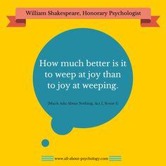 William Shakespeare, honorary psychologist.  #WilliamShakespeare #psychology #MuchAdoAboutNothing #ShakespeareQuotes