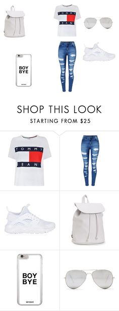 """""""chyna"""" by f00disbae4ever on Polyvore featuring Tommy Hilfiger, WithChic, NIKE, Aéropostale and Sunny Rebel"""