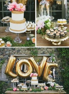 We can feel the love for this dessert table!
