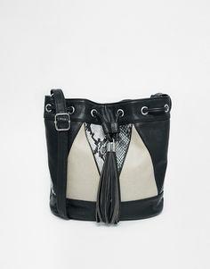 ASOS Contrast Snake Shoulder Duffle Bag at asos.com f96bc93b713ca