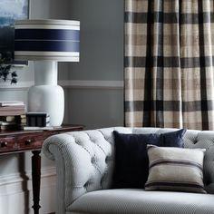 λινό μεγάλο καρό αγγλικό ύφασμα — Mayo Deco - Interior Design