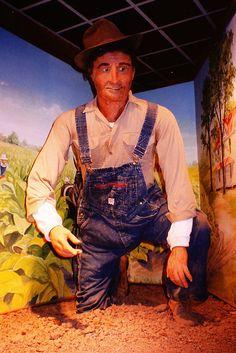 Duke Homestead Tobacco Museum...Talking farmer automaton... Durham, North Carolina