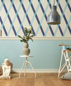 Englische Tapeten 341104 Lars Contzen Artist Edition No. Trellis Wallpaper, Blue Tones, Retro, Inspiration, Interior, Artist, Pattern, Home Decor, Beautiful Wallpaper