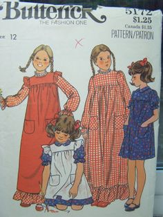 Butterick 5172 Girl's Sewing Pattern Girl's by WitsEndDesign