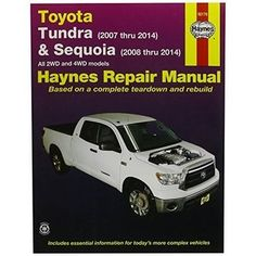 Haynes Repair Manuals Toyota Tundra 2007-2012 and Sequoia 20, Brown
