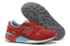 New Balance 999 Womens Red light Blue Fashion Shoes