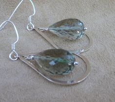 MacDesigns   Faceted Green Amethyst TearDrop by macdesignsgallery, $98.00