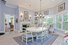 Dining room of luxury home in Armonk, New York