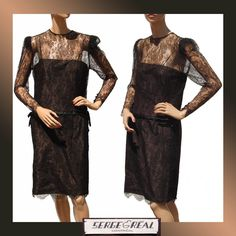 Vintage Couture Cocktail Dress Black Lace 1980s Serge et Real Montreal. $250     Sale starts Sat Jan 12 8:00 AM, ends Sun Jan 13 8:00 AM Pacific Time. This item will be 50% off the price above during the Sale!