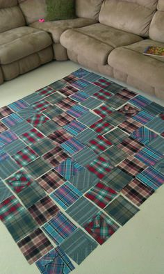 My grandfather passed this year and I am in the process of making a blanket from his old shirts.