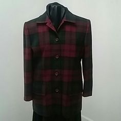 Burberry Jackets & Coats - Burberry Tartan alpaca/wool jacket