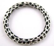 Silver Plated Large Hammered Ring - 35mm