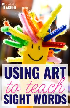 Make sight words fun by using art to teach sight words! These sight word activities are hands-on and perfect for kindergarten and first grade. Preschool Sight Words, Teaching Sight Words, Sight Word Practice, Sight Word Games, Sight Word Activities, Phonics Activities, Art Activities For Kindergarten, Teaching Kindergarten, Preschool Learning