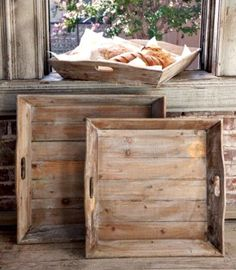 Reclaimed Wood Tray -Fixer Upper Style - ET Tobey & Company