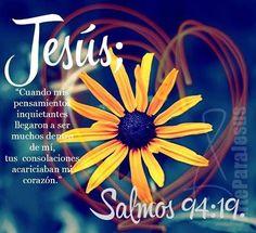 En la multitud de mis pensamientos dentro de mí,Tus consolaciones alegraban mi alma. Salmos 94:19 RVR196O