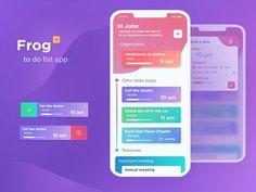 To do list App Ios App Design, Web Design, Mobile App Design, User Interface Design, Mobile Ui, Wireframe, To Do App, Mobile Application Design, App Development