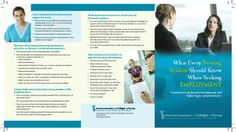 Nursing students, take a look at this brochure to learn about job searching - this is PART 1