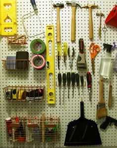 DIY tool board A must have in every workshop! Now if there was only a way to get them to put everything away when finished...
