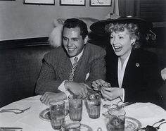 Lucille Ball and Desi Arnaz in the 1940s