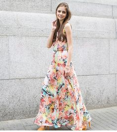 Bohemian maxi skirts ,2013 summer trend  #womensfashion #maxiskirts @Rachel Turnbull