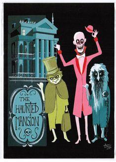 """Disneyland Postcard - WonderGround Gallery - """"The Haunted Mansion"""" El Gato Gomez"""
