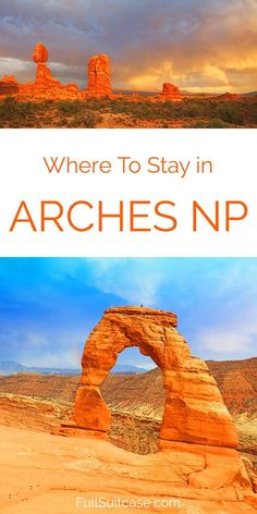 Where to stay for visiting Arches and Canyonlands National Parks in Utah, USA. Best Moab hotels for your interests, group size and budget. Find out! #utah #archesnationalpark #travel