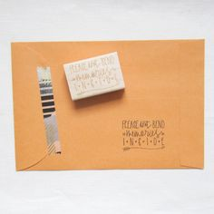 Please Don't Bend Stamp - photography branding and packaging