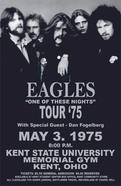 Eagles, poster One Of These Nights tour 1975