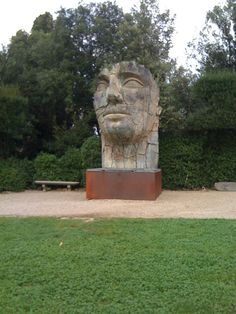 Florence Italy, sculpture found in the Boboli Gardens
