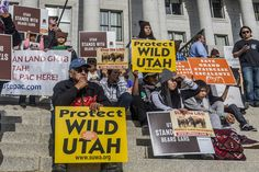 Thousands of people converged on the steps of Utah's State...