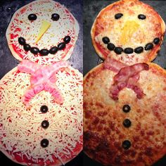 Foodie Quine : Snowman Pizza Christmas Food Kids Food Party
