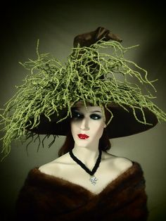 Couture Witch Hat ;Tentacula via Etsy
