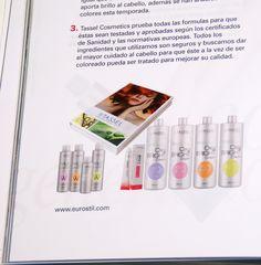 Revista C&C Magazine, hablando sobre los tintes Tassel Cosmetics con y sin amoniaco #TasselCosmetics #Tassel #tinte