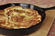 Apple Dutch Baby Pancake - cooked in the oven.  Perfect weekend breakfast.