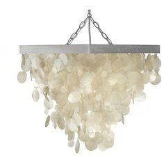 KOUBOO Capiz Seashell Rain Drop Pendant Lamp (300 CAD) ❤ liked on Polyvore featuring home, lighting, ceiling lights, capiz shell hanging lamp, capiz pendant lamp, seashell lights, capiz hanging lamp and capiz lighting
