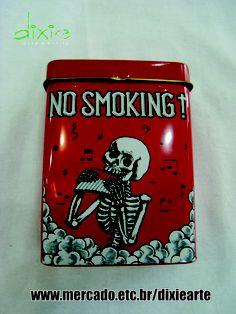 Latinha para cigarro  www.mercado.etc.br/dixiearte