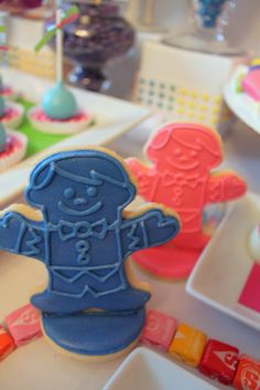 Cookies at a Candyland Party #candyland #party