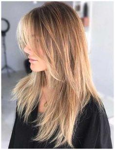 Long Shag Haircut, Haircuts Straight Hair, Shaggy Haircuts, Haircuts With Bangs, Cool Haircuts, Straight Bangs, Choppy Layers For Long Hair, Long Haircuts For Women, Straight Hair With Layers