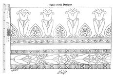 "Indian Saree / Sari Border Embroidery Pattern - From ""Design for Needle Work"" by Zahoor-ul-Haq, circa 1930"