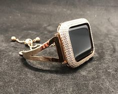 Fits Series 5 Band + Bezel Just Select in or Fits Series 5 Band + Bezel Just Select in or Rose Gold Apple Watch Band Womens Iwatch Bracelet Bangle Cuff Style Stainless Steel Band is sleek and elegant. Fits series Made of rose gold plated Apple Watch Bands Fashion, Rose Gold Apple Watch, Apple Watch Accessories, Lab Diamonds, Gold Bangles, Rose Gold Plates, Rings For Men, Watches, Unique Jewelry