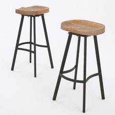Featuring a firwood seat and iron frame, not only is this barstool comfortable, but you can spin any direction you want, allowing conversation to flow around you without you missing a beat.